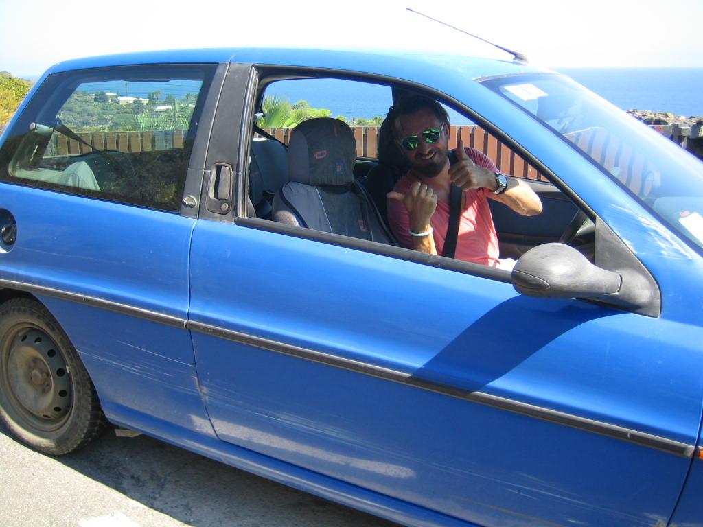 Im Auto auf Pantelleria