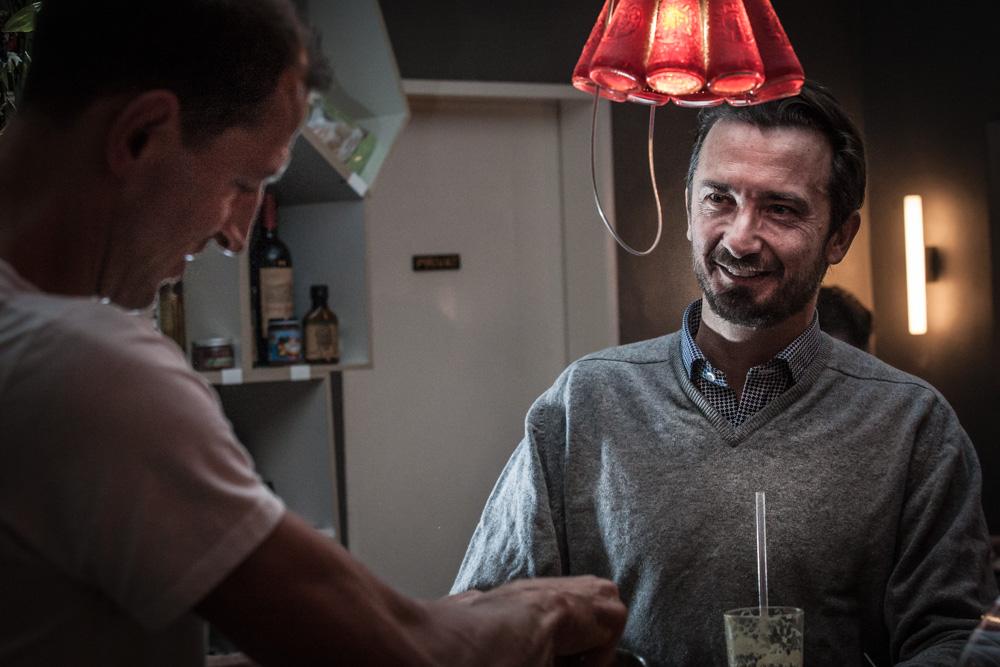 Bru und Robert im Café Cordial