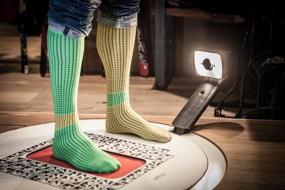 Spiderman-Socken für 3D-Scan