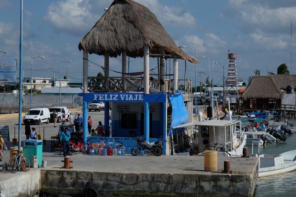 Die Fähre nach Holbox fährt in Chiquilla ab