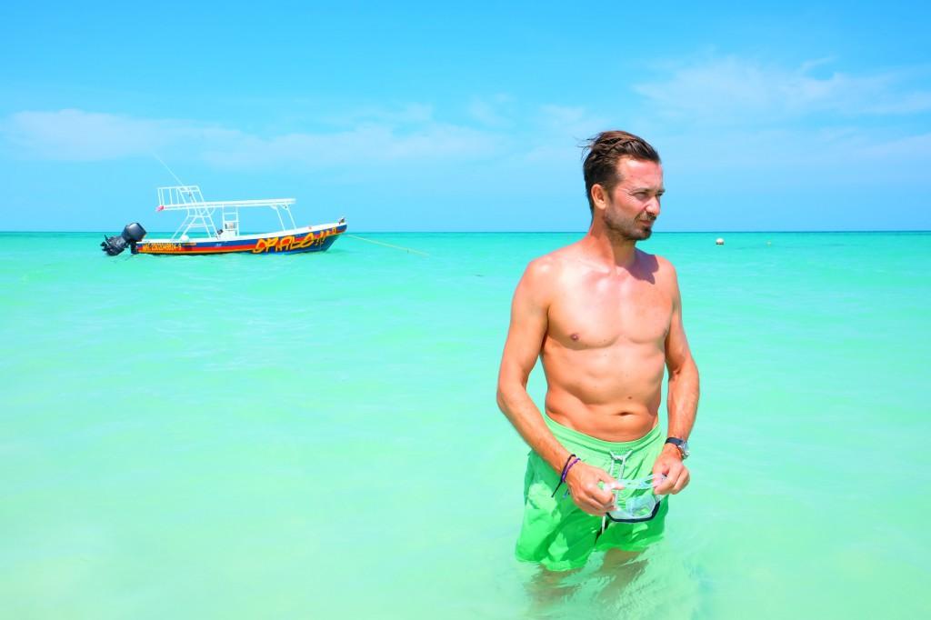 Bru auf der mexikanischen Insel Holbox