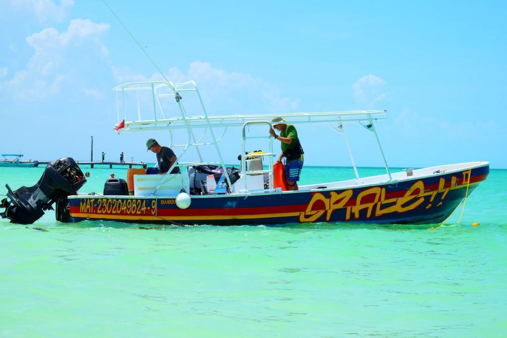 Das Boot der Kiter vom Casa Las Tortugas