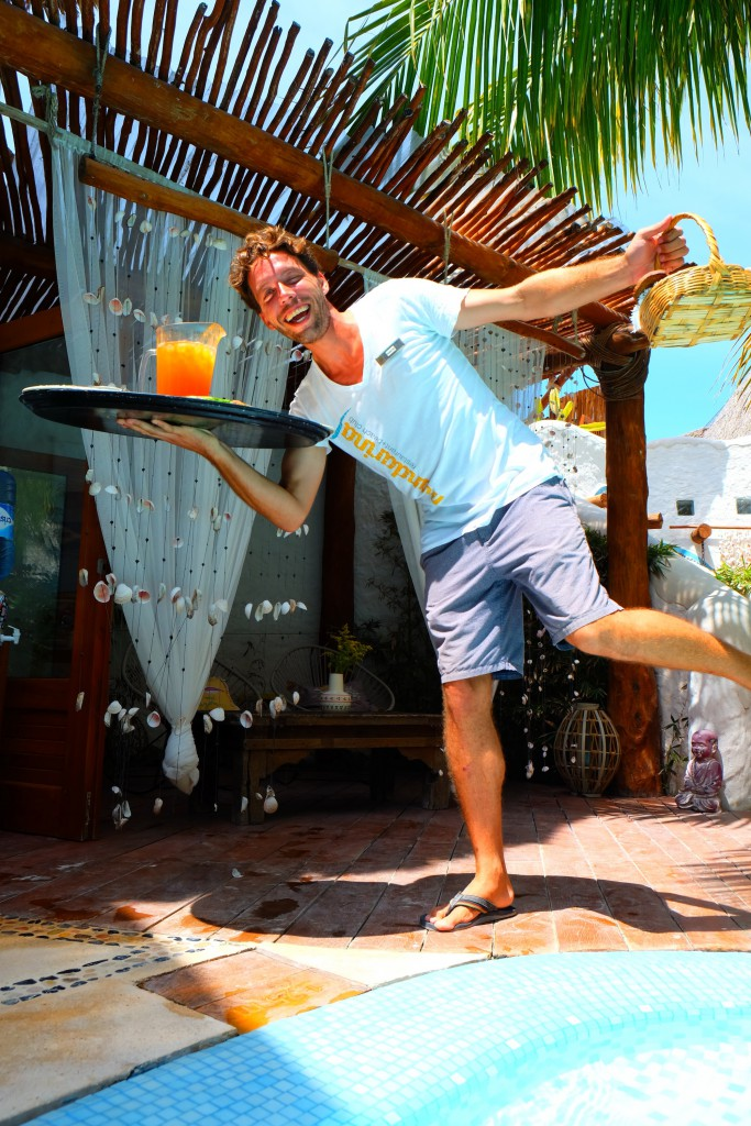 Simon - mein Lieblingskellner im Hotel Casa Las Tortugas