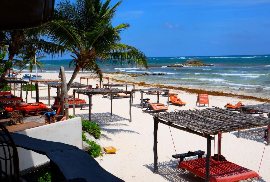 Karibik-Strand in Tulum