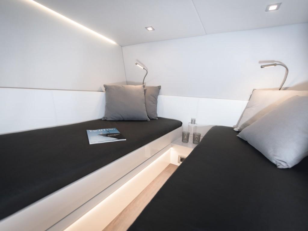 Schlafplatz in der Fjord 48 open