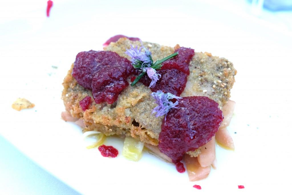 Kalbskopf mit Birnen-Chicorée-Salat