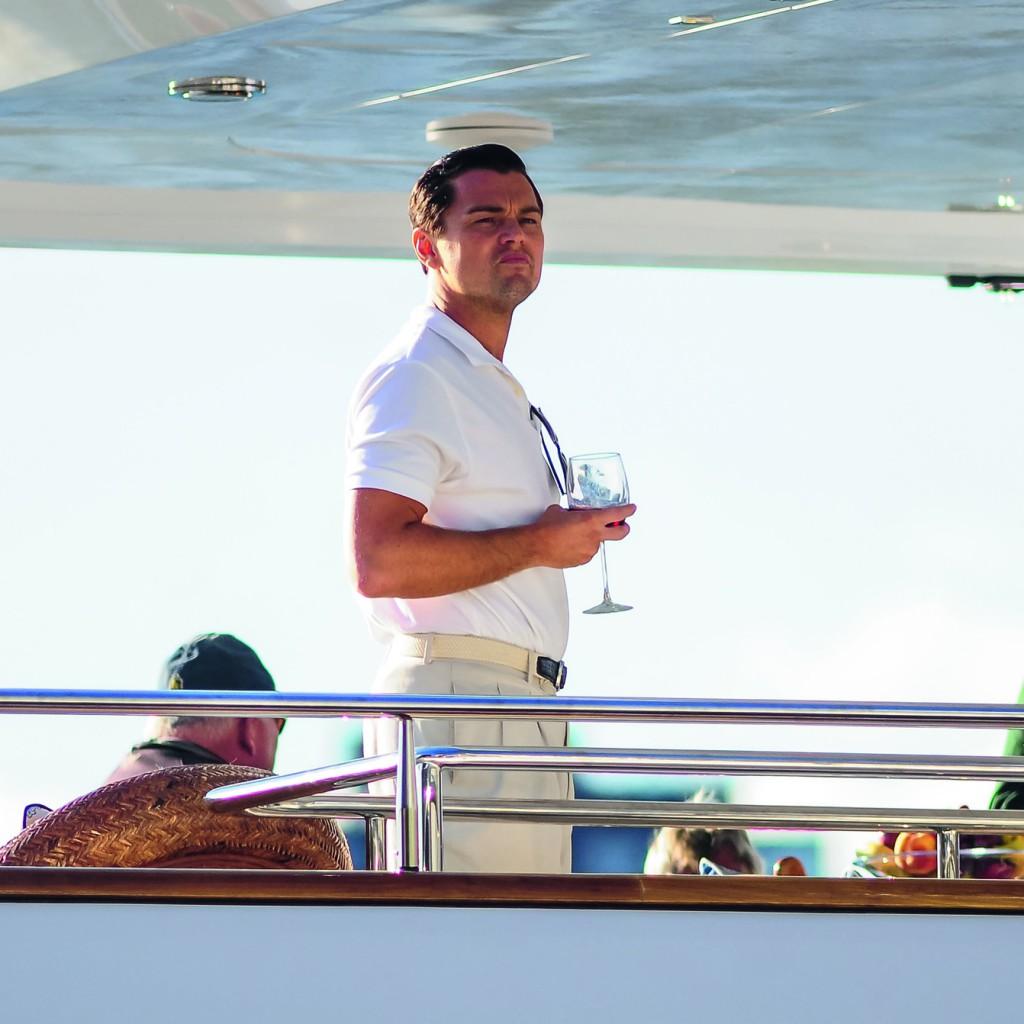 Leo Di Caprio an Bord einer Superyacht  © J.B. Nicholas/Splash News/Corbis