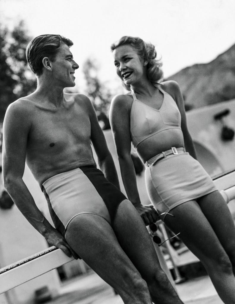 Ronald Reagan und seine Frau Jane in Palm Springs © Condé Nast Archive/Corbis