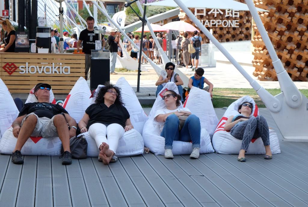 Ganz schön ermüdend: die Expo 2015