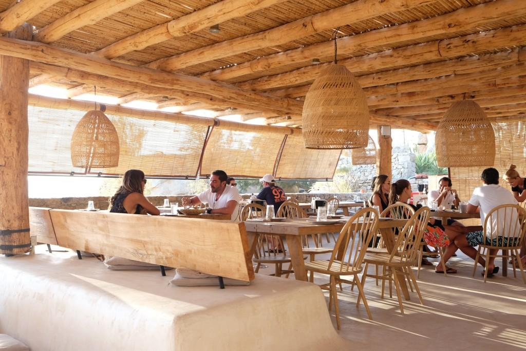 Restaurant des Scorpios Beach Club Mykonos
