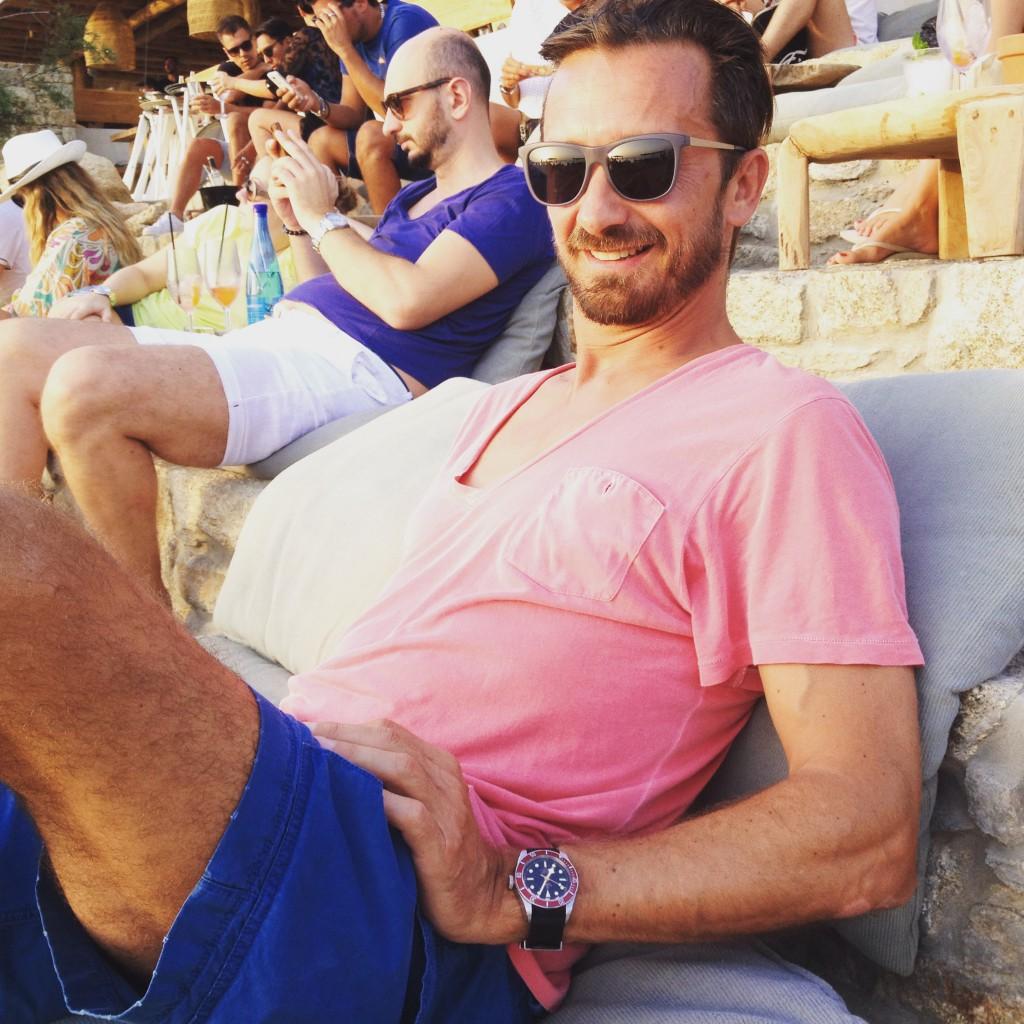 Blogger Bru im Scorpios Beach Club Mykonos