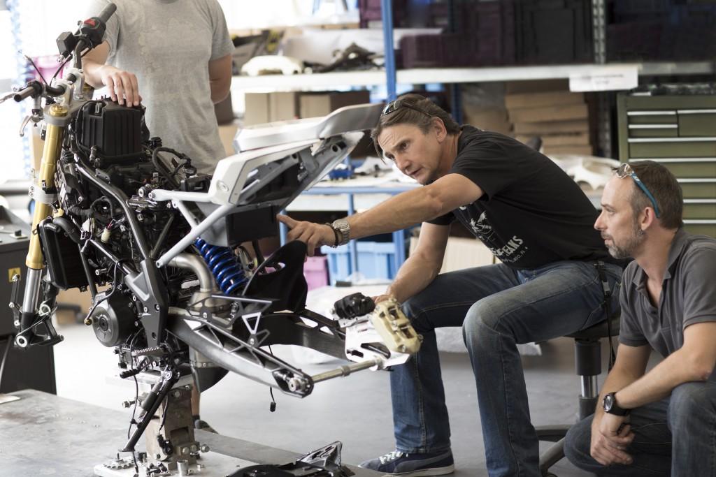 Chris Pfeiffer hat das Bike nach seinen Bedürfnissen gestaltet