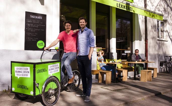 Die Lekkerei-Gründer Andro Maus und sein Bruder Robin Prado