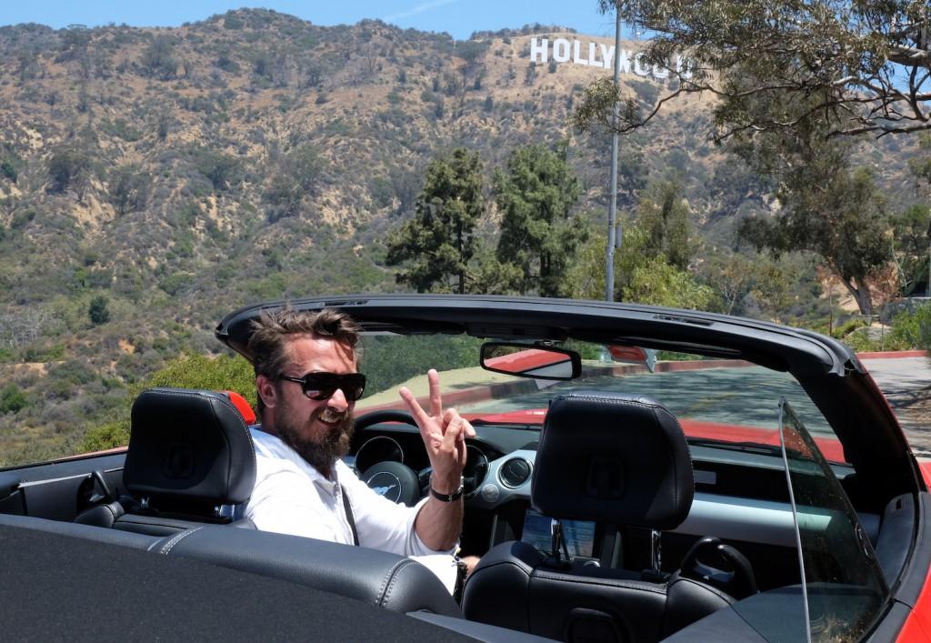 Der Mustang passt auch gut nach Hollywood