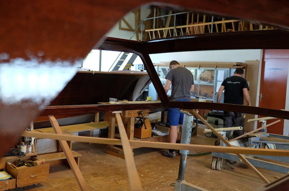 Mindestens sechs Monate wird das Boot gebaut