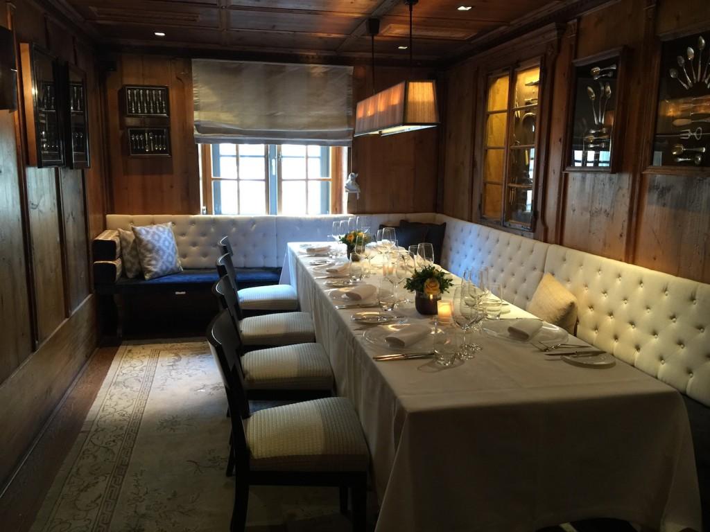 Fein speisen - das Restaurant im Obergeschoss