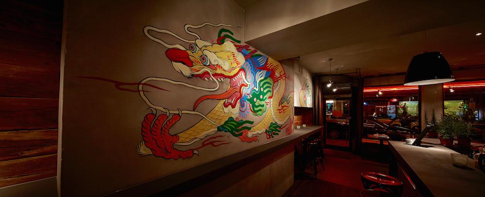 Der US-Künstler Boy Kong hat die Wände bemalt