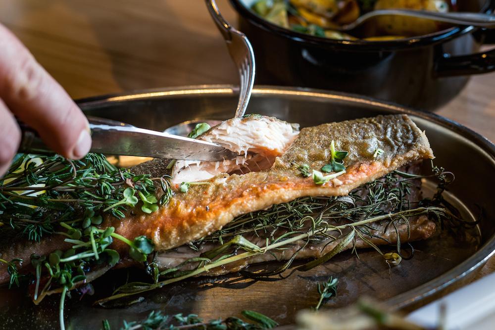 Auch der Fisch - köstlich