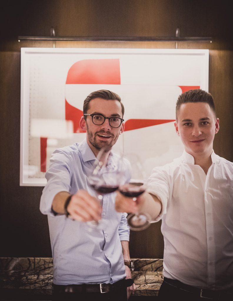 Weinversteher: Stefan Grabler und Markus Hirschler