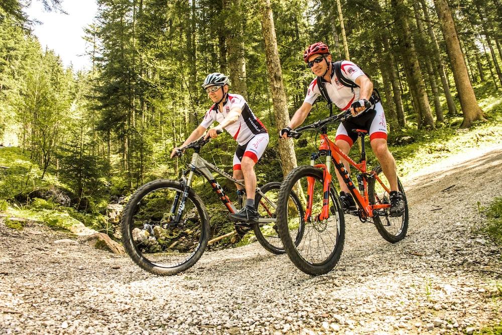 Mountainbiken mit Rotwild Rädern
