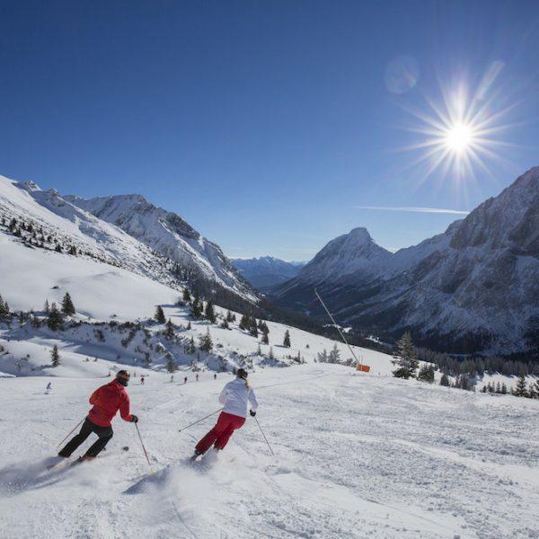 Klein, aber fein: das Skigebiet der Ehrwalder Almbahn