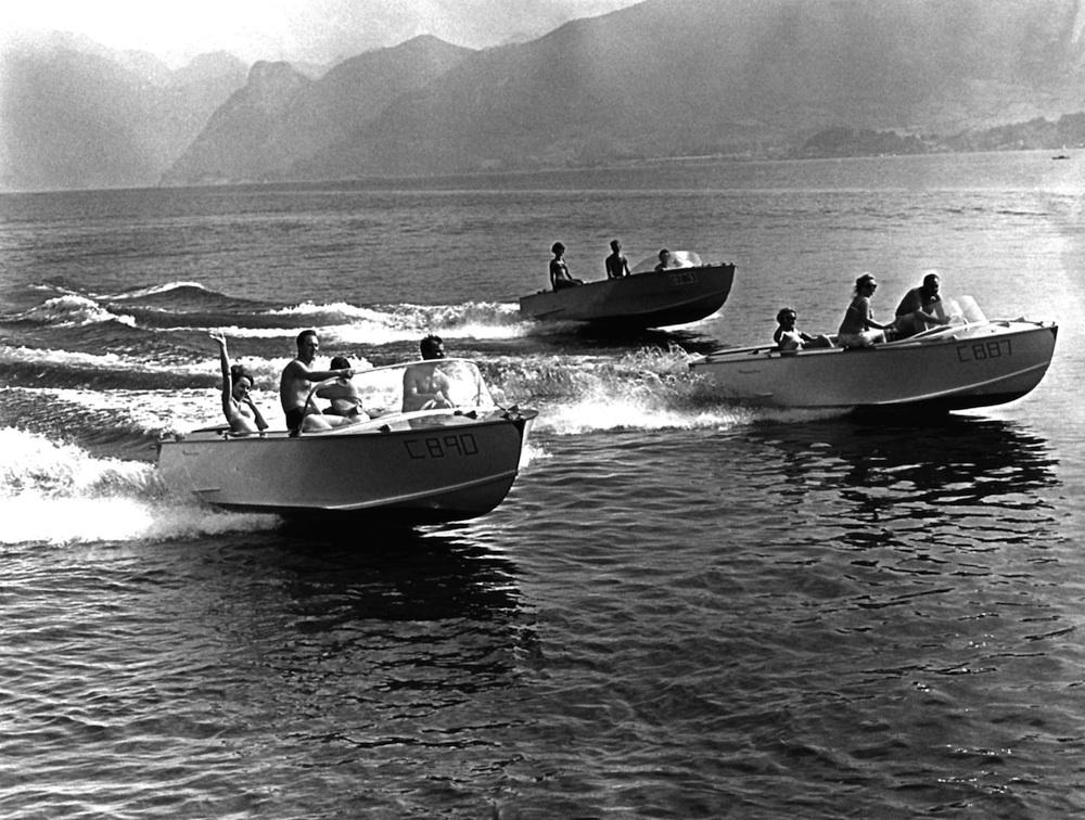 Die Frauscher Boote im Jahr 1967 - schon damals ein Hingucker
