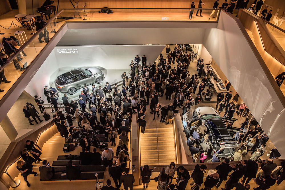 Weltpremiere des Range Rover Velar im Design Museum London am 01.03.2017
