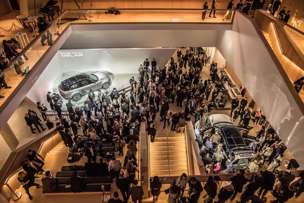 Weltpremiere des Range Rover Velar im Design Museum London am 01.03.2017