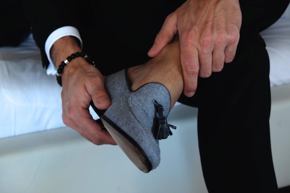 Der Loden Loafer passt natürlich auch zum Anzug...