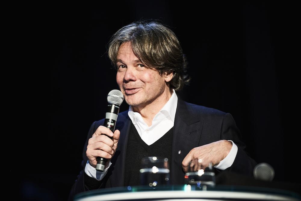 Michael Käfer bei der Eröffnung der Premium Lounge