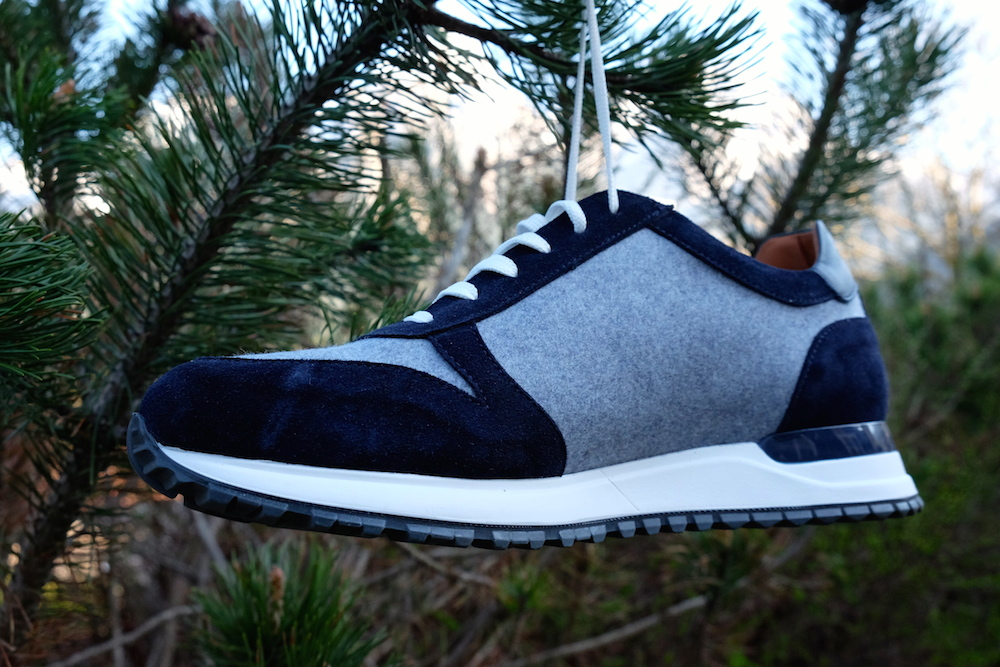 Die Schuhe sind handmade in Italy