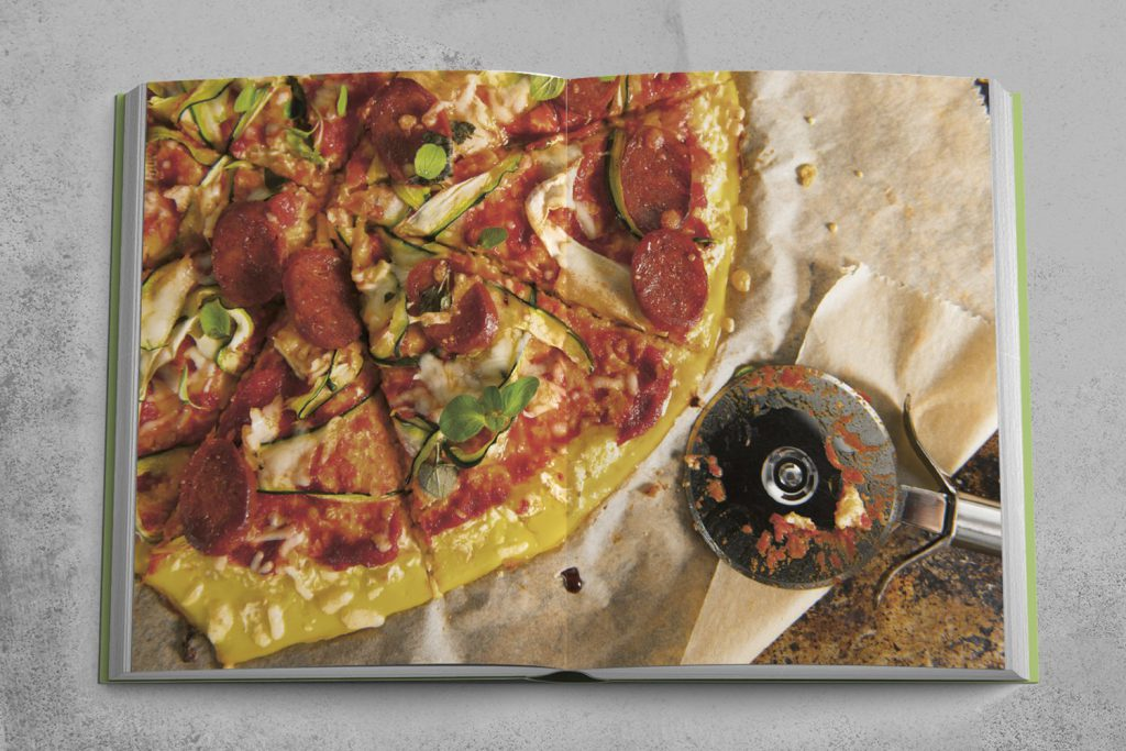 Eines von Flavio Simonettis Lieblingsgerichten: selbst gemacht Pizza mit Blumenkohlboden