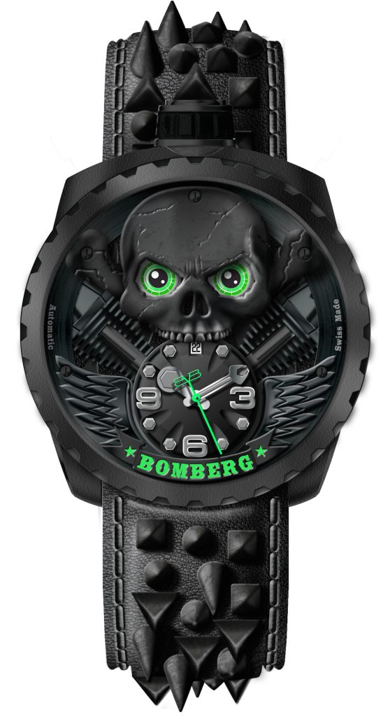 Eine Uhr für taffe Kerle: die Bomberg Skull Rider Blackheart