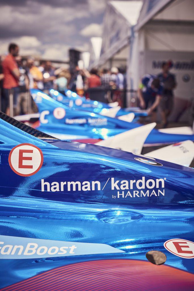 Harman/Kardon ist als visionäre Firma einer der Hauptsponsoren der Formula E