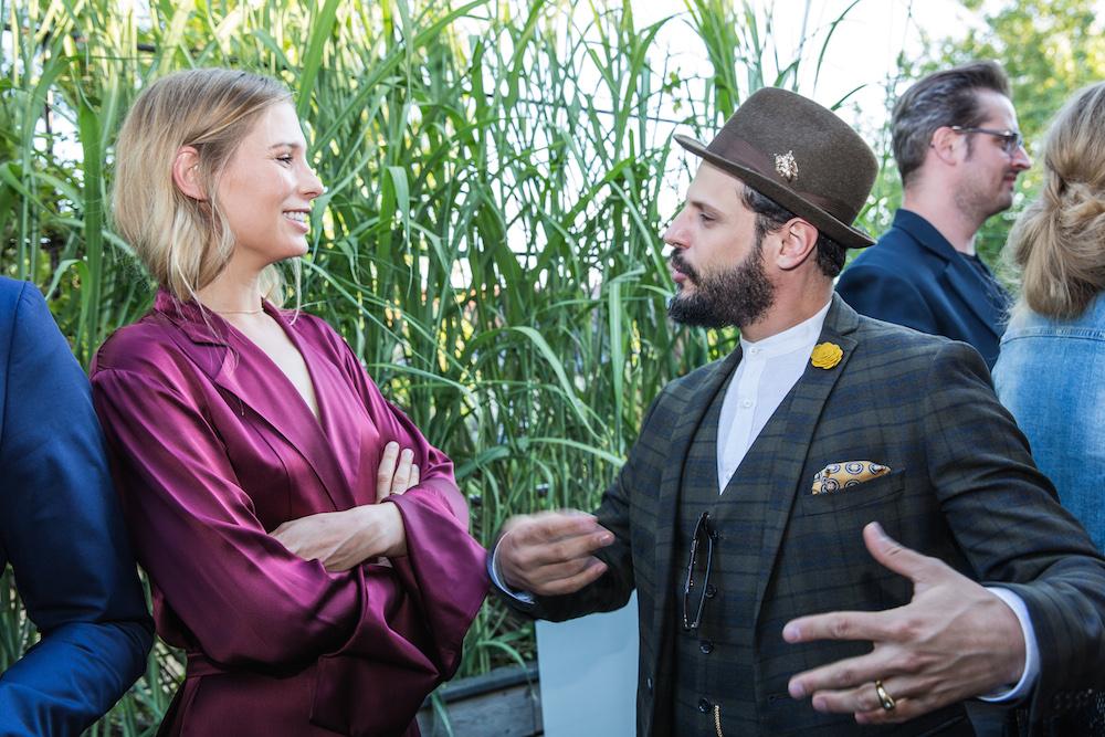 Schauspieler Manuel Cortez mit Model Sarah Brandner