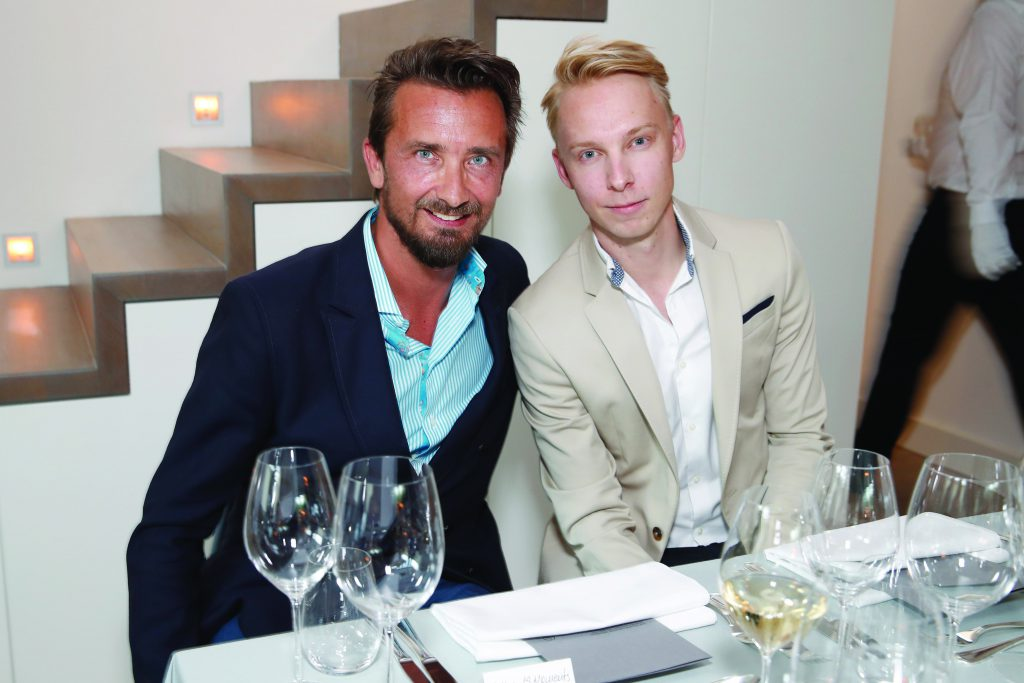 Mit meinem Tischnachbar Ondrej Navratil