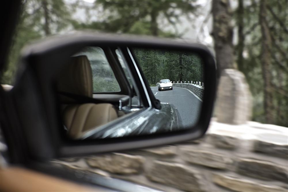 Schöne Aussichten im Seitenspiegel