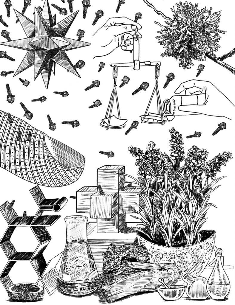 Zu jedem Parfum hat der spanische Künstler Jose Manuel eine Illustration entworfen