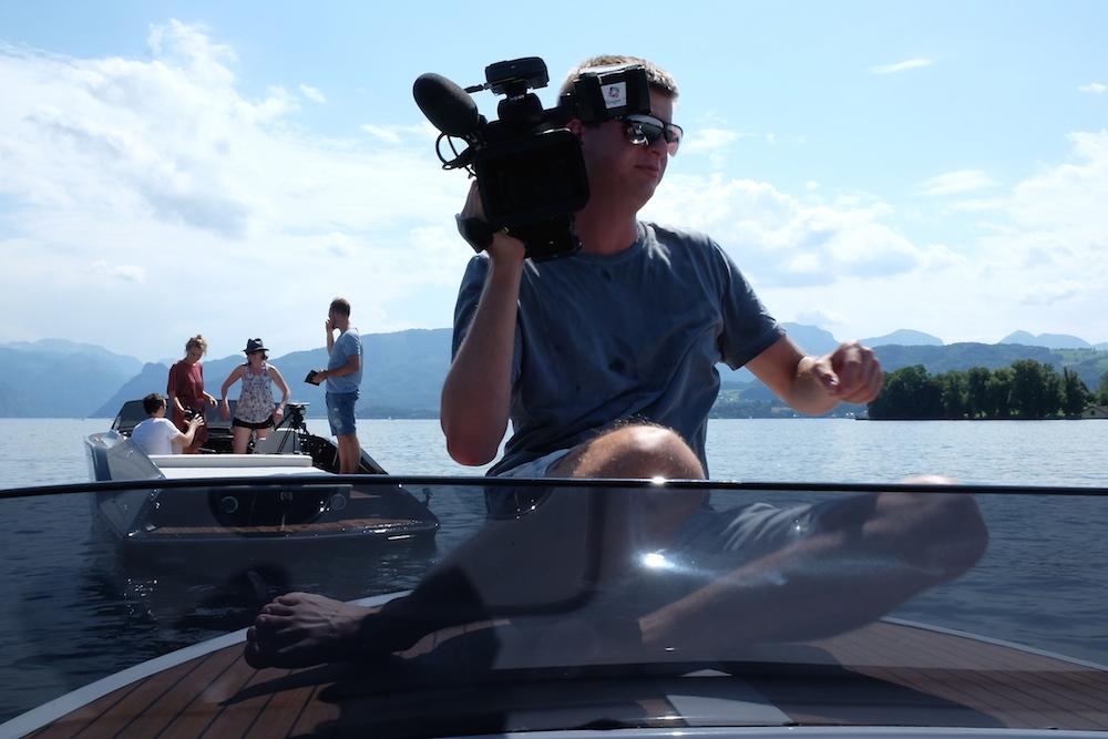 Dreharbeiten fürs Österreichische Fernsehen