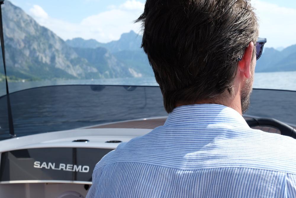 Tolles Elektroboot: die San Remo von Frauscher