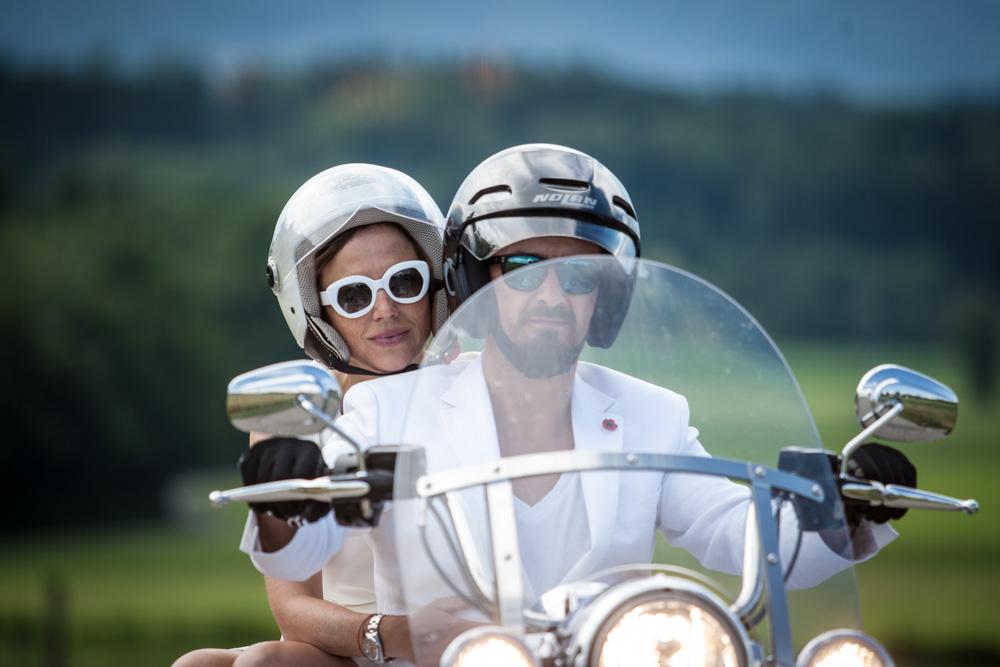 Ich bin der weiße Ritter auf dem Bike...