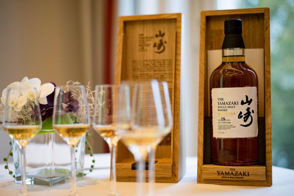 Der Abend war eine Offenbarung mit der Verkostung des Yamazaki Mizunara Cask 2017 sowie sechs weiteren, limitierten Single Malt Editionen aus der Yamazaki Destillerie