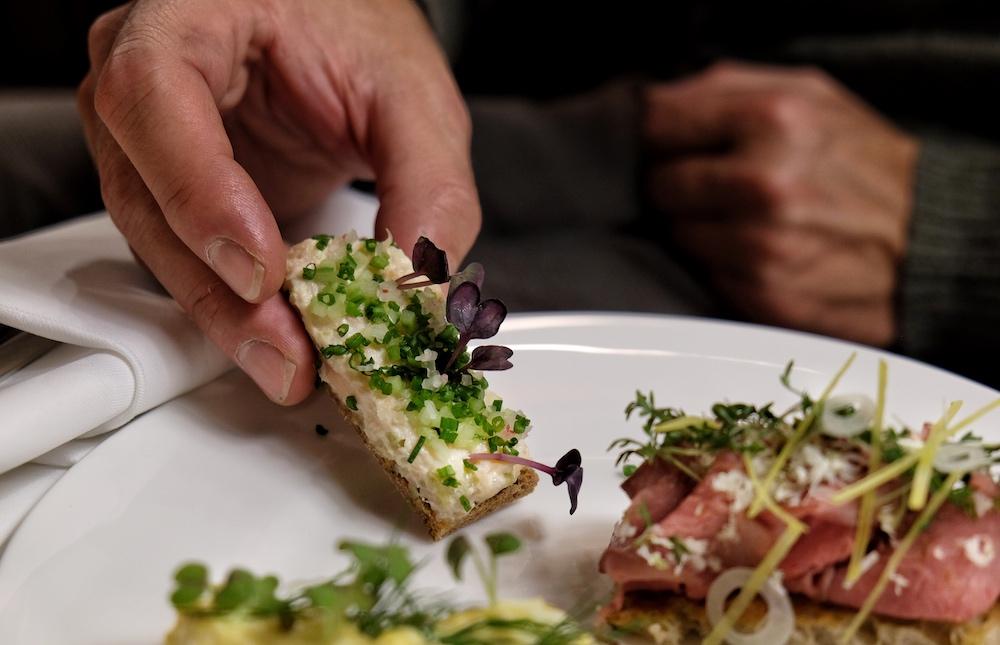 Auch die Sandwiches mit Forellen-Rillette schmecken köstlich