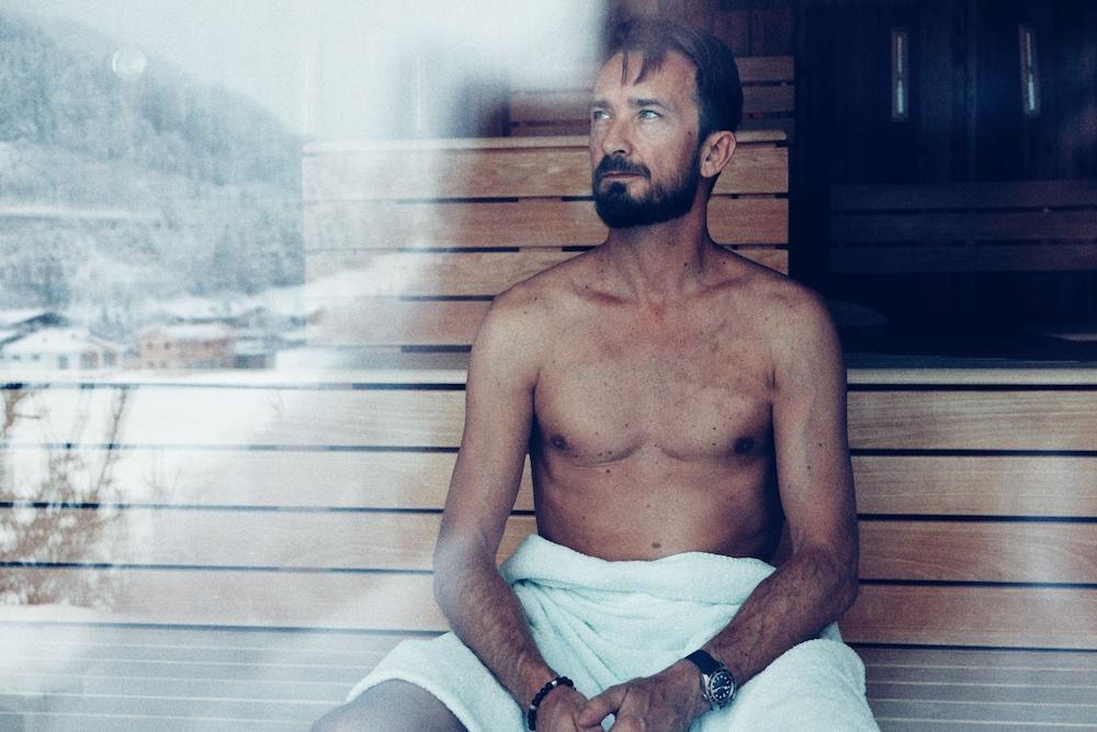 Sauna mit Aussicht - in diesem Fall auf die Piste