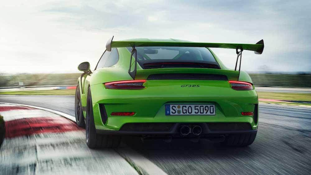 Heckspoiler des Porsche GT3 RS