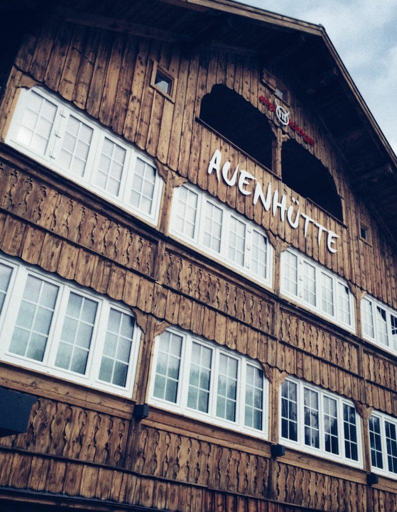 Auenhütte an der Talstation Skigebiet Kleinwalsertal