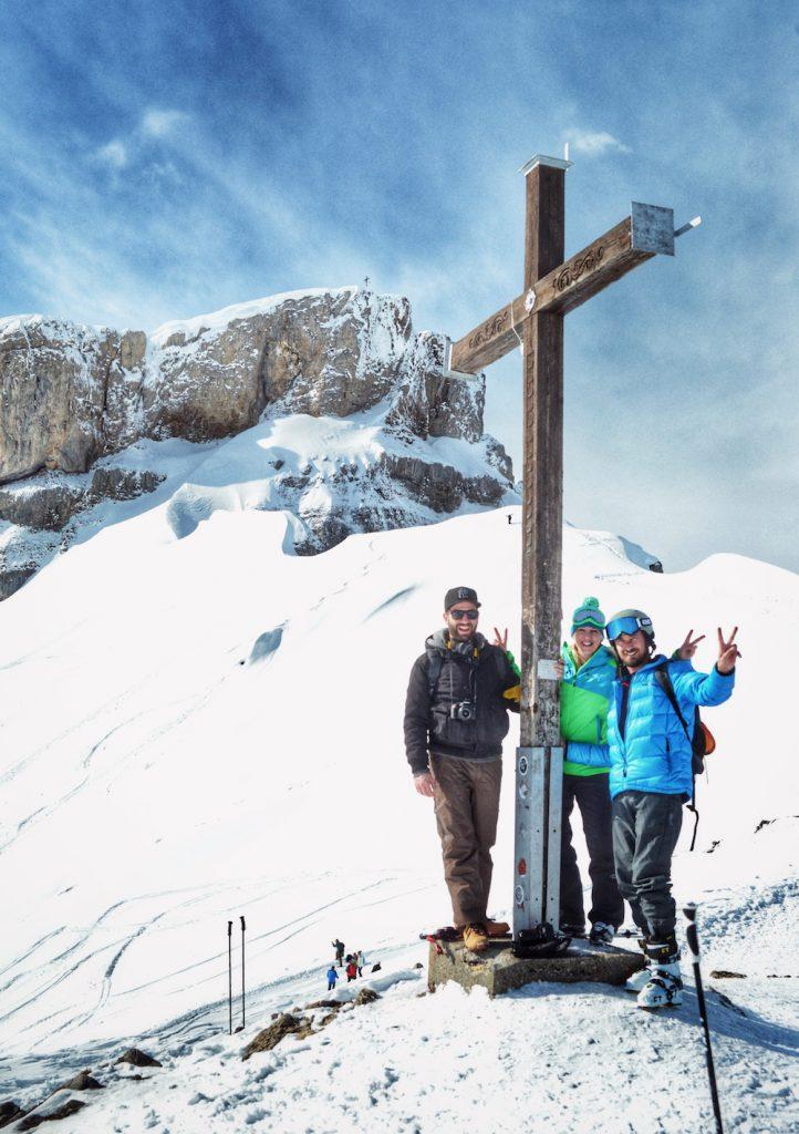 Gipfelkreuz mit Blogger-Kollegen