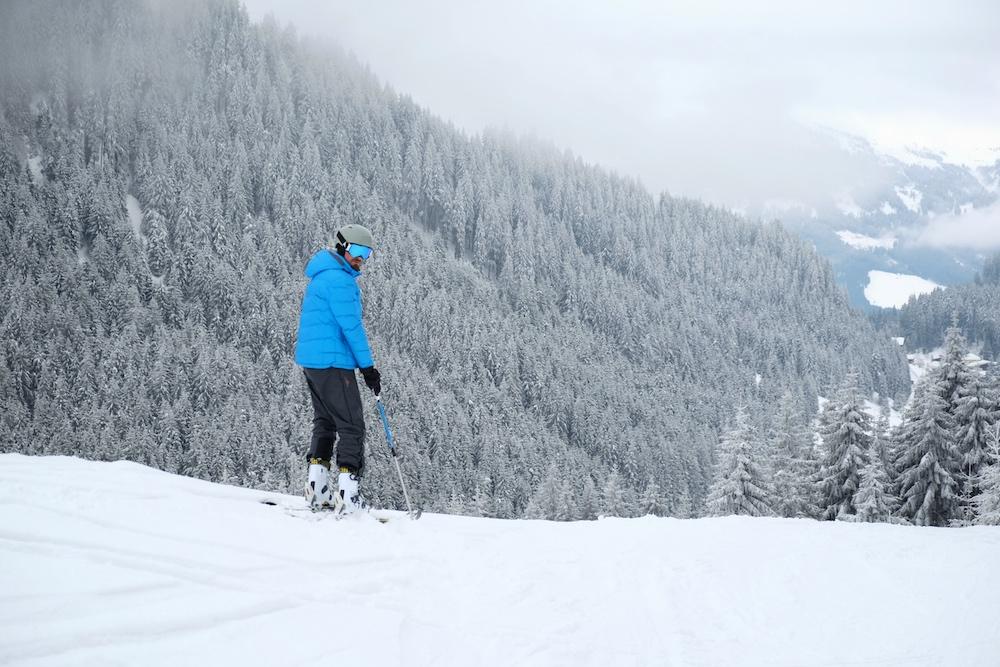 Blogger Bru im Skigebiet von Kitzbühel