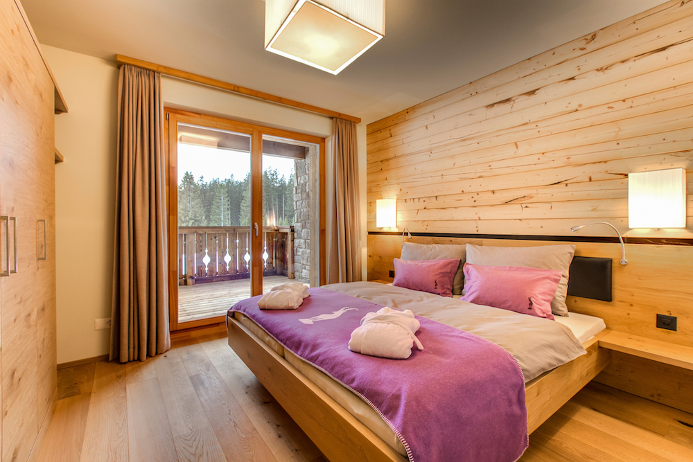 Schlafzimmer PRIVÀ Alpine Lodge