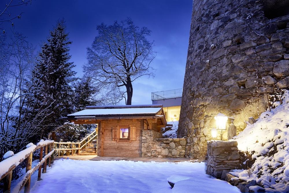 Die Außensauna in Schloss Mittersill